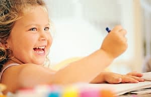 MarsdenPark, happy kid, learning how to color