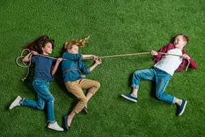 kids playing with rope
