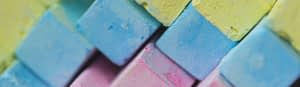 blocks of colorful chalks